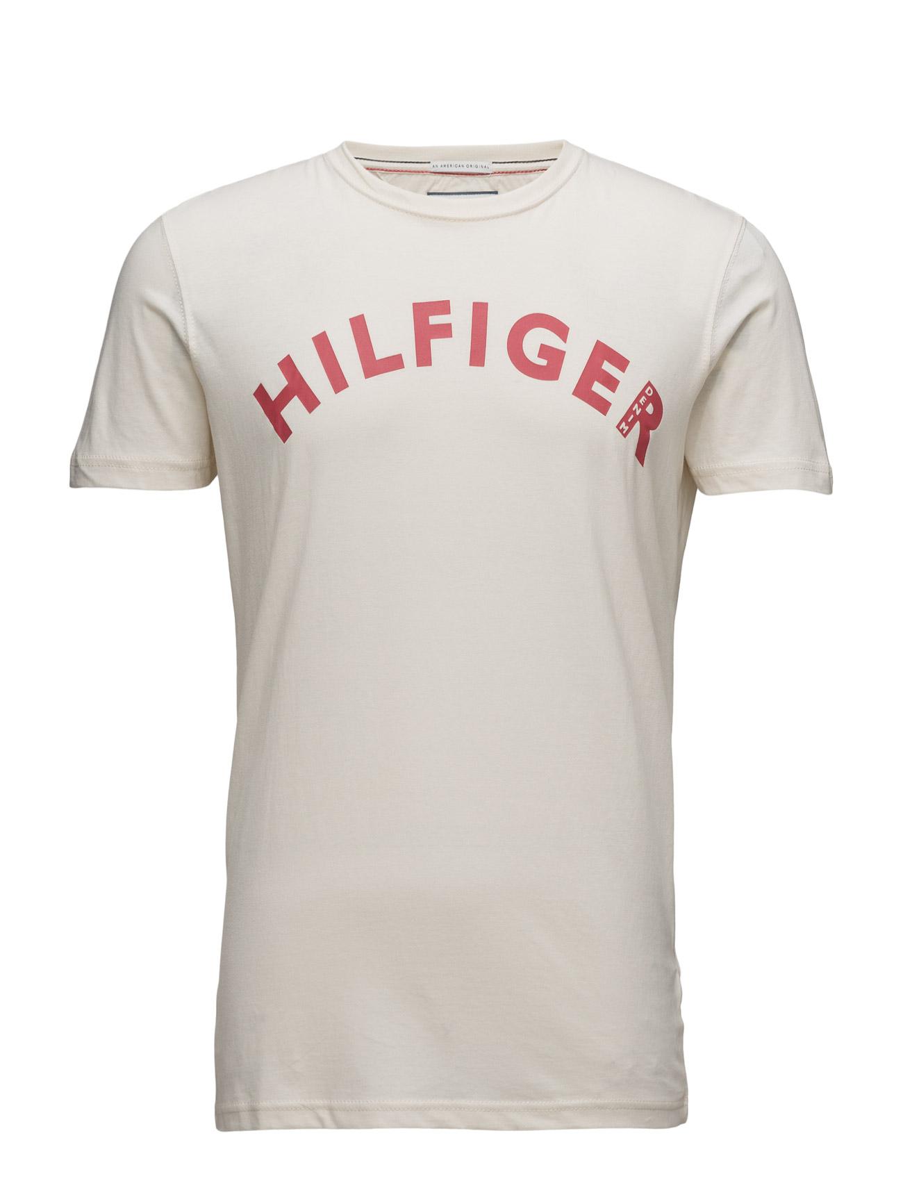 Thdm Cn T-Shirt S/S 10 Hilfiger Denim Kortærmede til Mænd i Grå