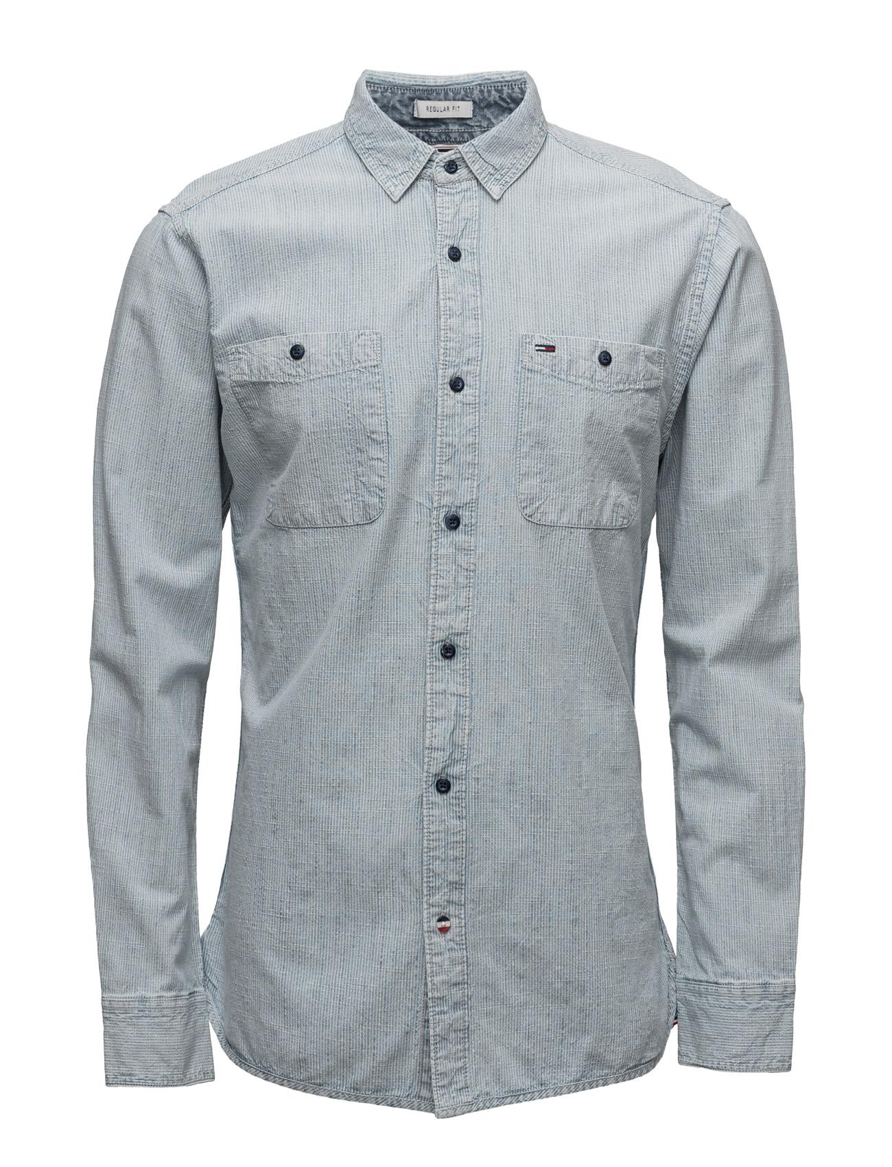 Thdm Indigo  Stripe Shirt L/S 33 Hilfiger Denim Trøjer til Mænd i