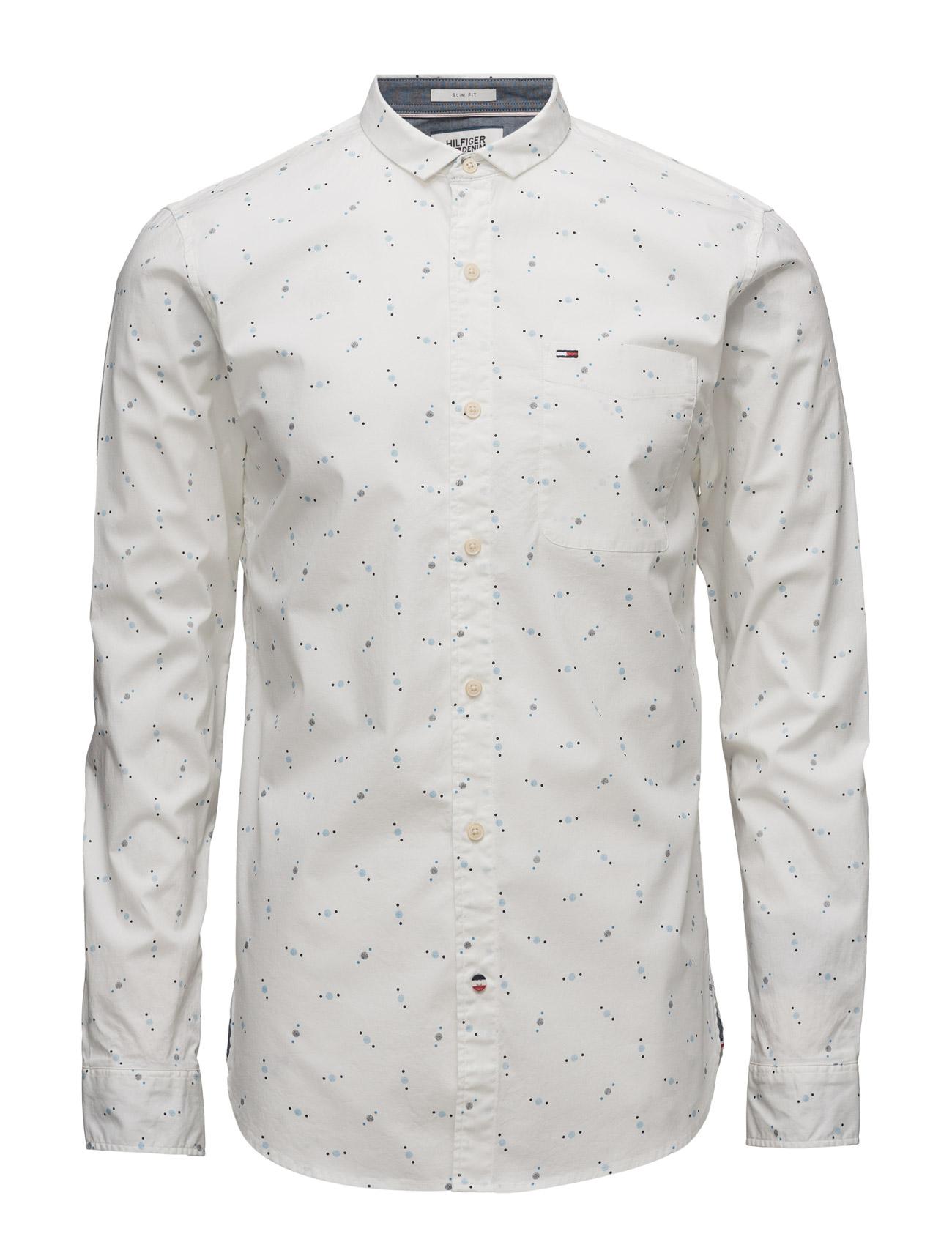 Thdm Sl Printed Shirt L/S 18 Hilfiger Denim Casual sko til Herrer i hvid