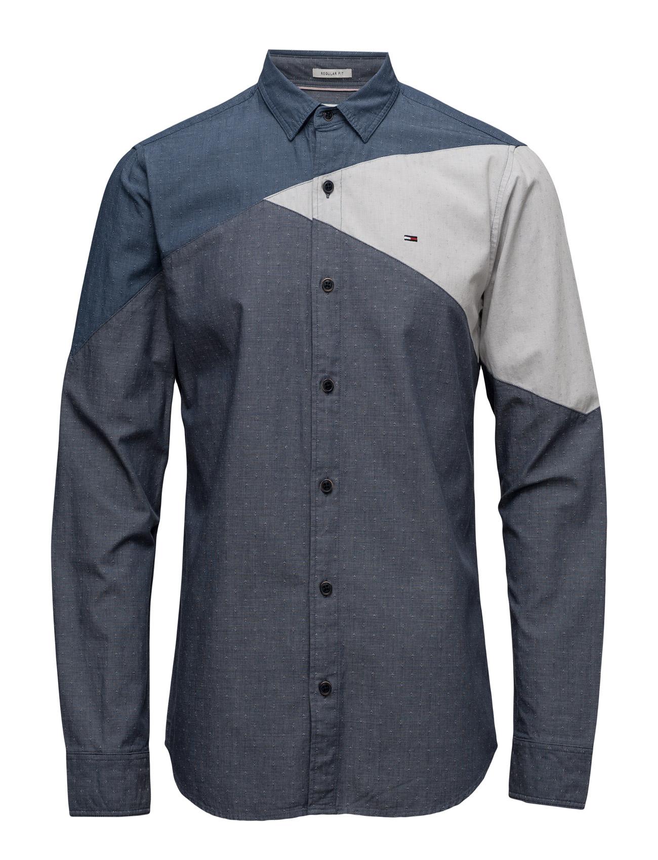Thdm Reg Colorblock Shirt L/S 19 Hilfiger Denim Casual sko til Herrer i Blå