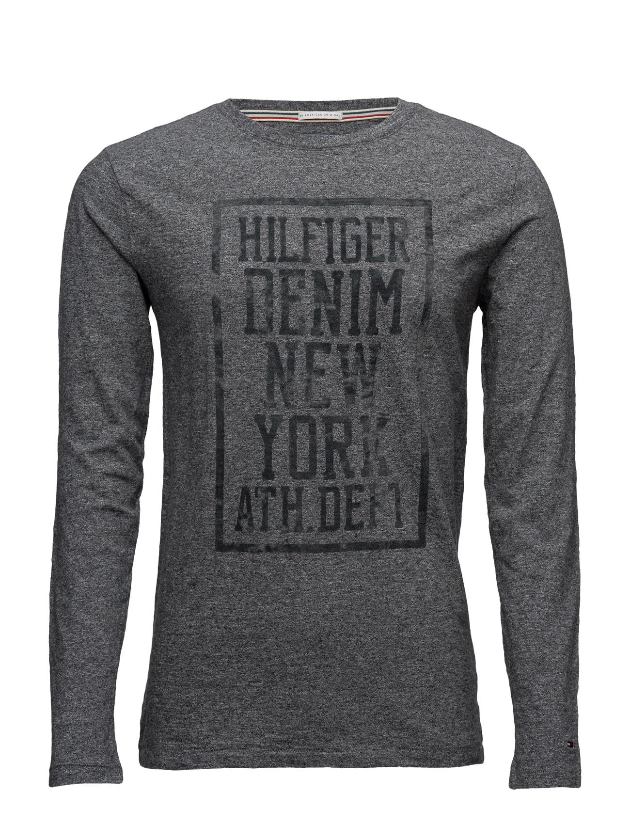 Thdm Cn T-Shirt L/S 22 Hilfiger Denim Langærmede til Mænd i Blå