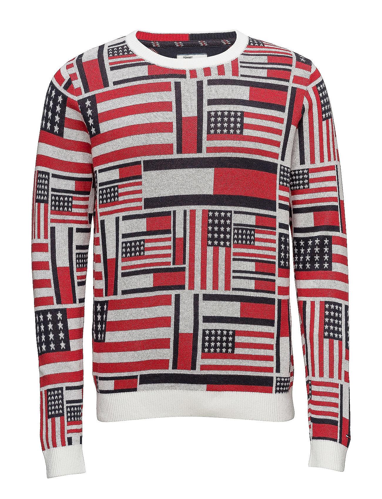 Thdm Iconic Cn Sweater L/S 14 Hilfiger Denim Rundhalsede til Herrer i hvid