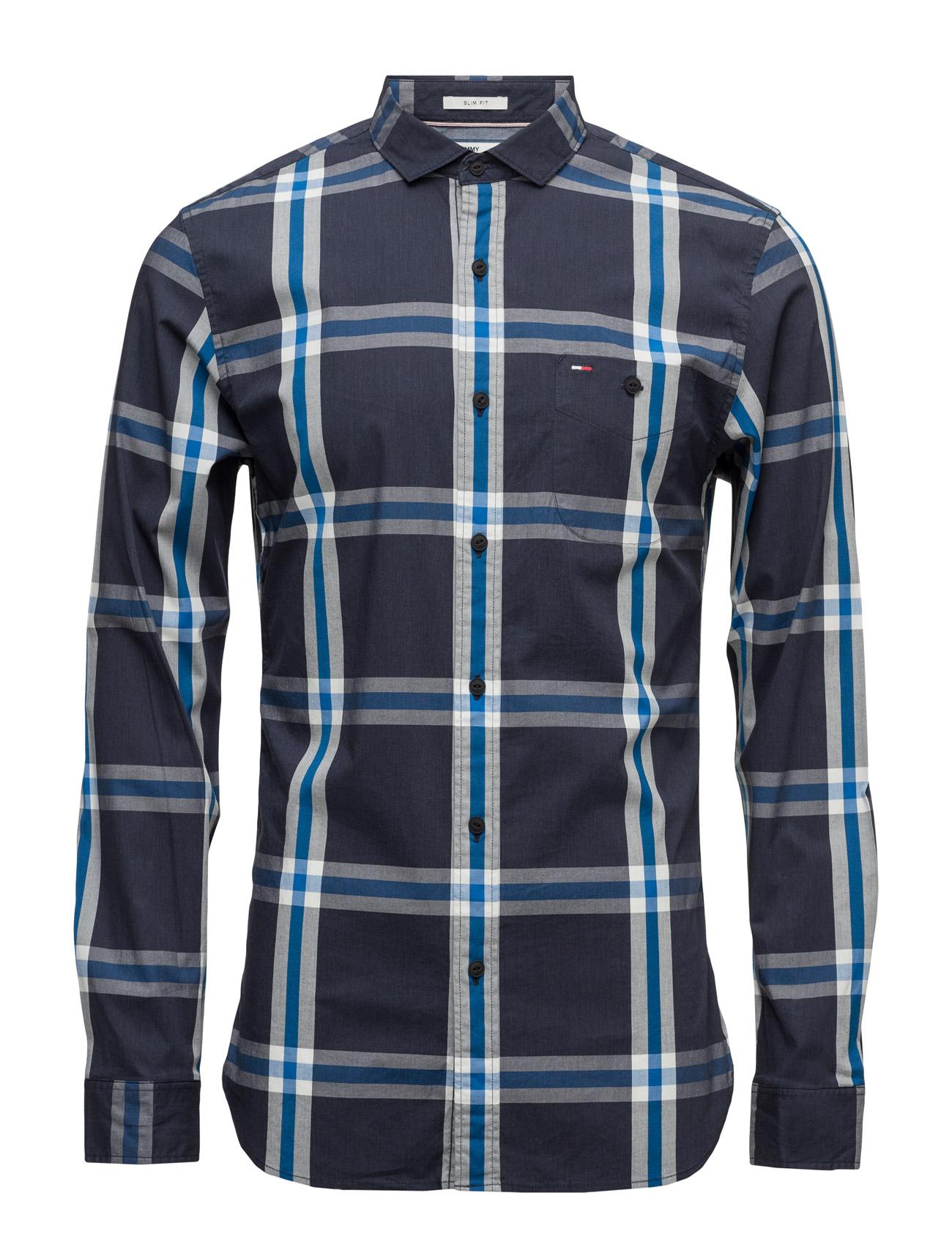 Thdm Sl Stretch Check Shirt L/S 20 Hilfiger Denim Trøjer til Mænd i Sort