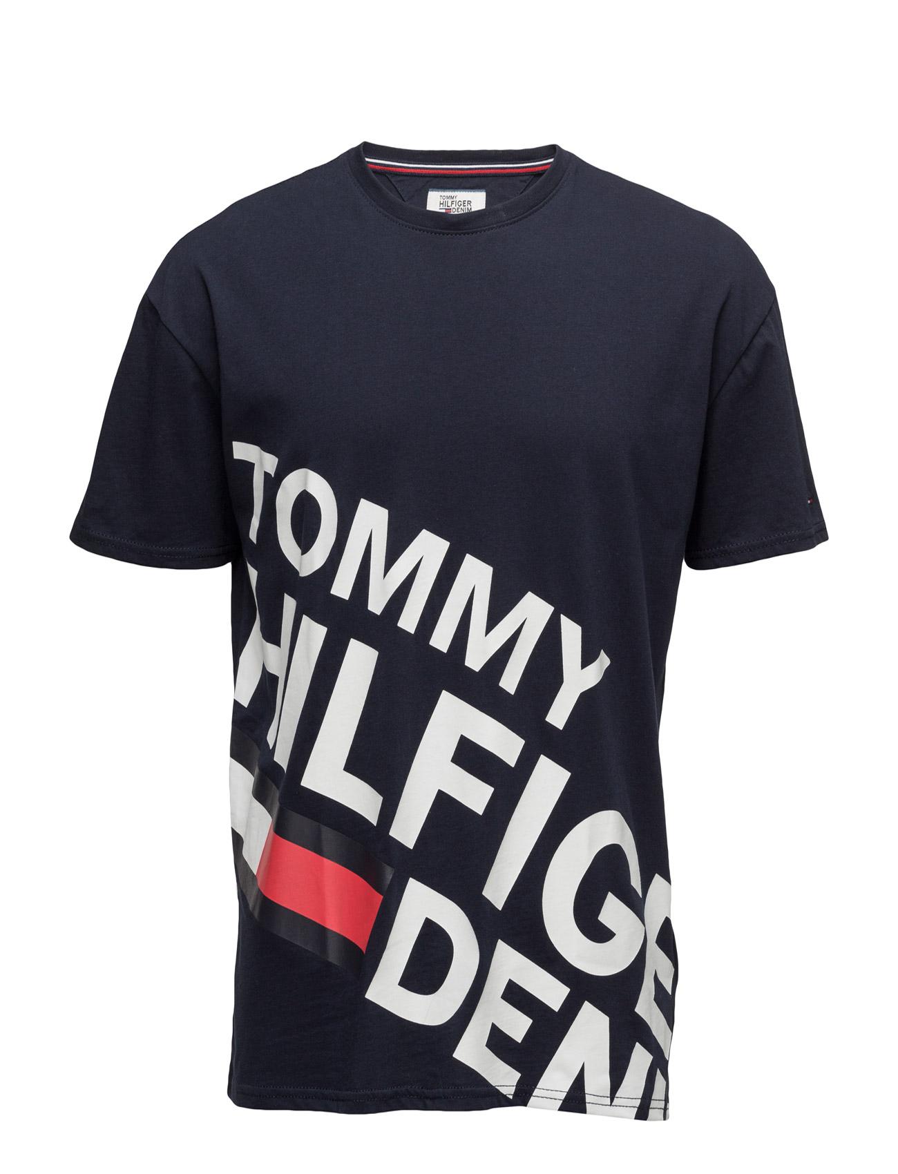 Thdm Basic Cn T-Shirt S/S 13 Hilfiger Denim Kortærmede til Herrer i Blå