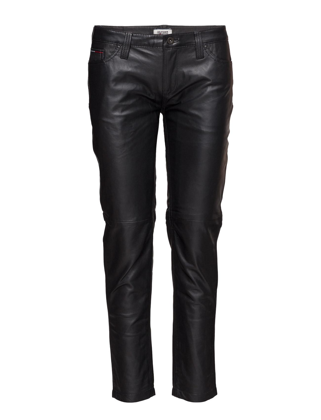 Thdw Leather Skinny 7/8 15 Hilfiger Denim Læder leggins & bukser til Kvinder i Sort