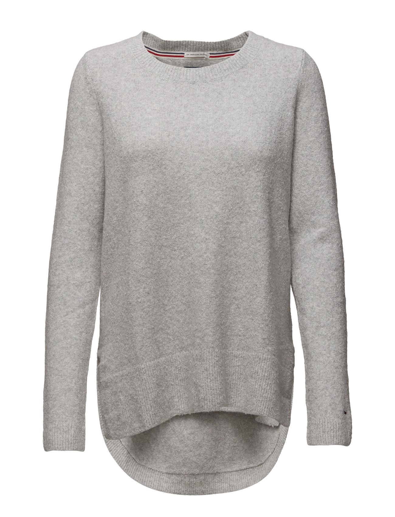 Thdw Rounded Sweater L/S 19 Hilfiger Denim Sweatshirts til Kvinder i Grå