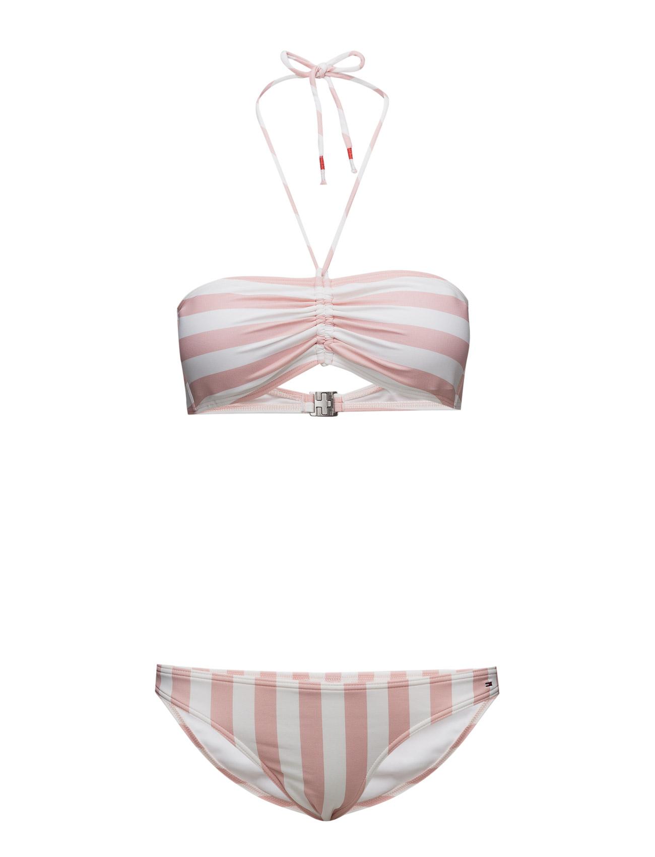 Thdw Stripe Bikini 11 Hilfiger Denim Bikinier til Kvinder i Lyserød