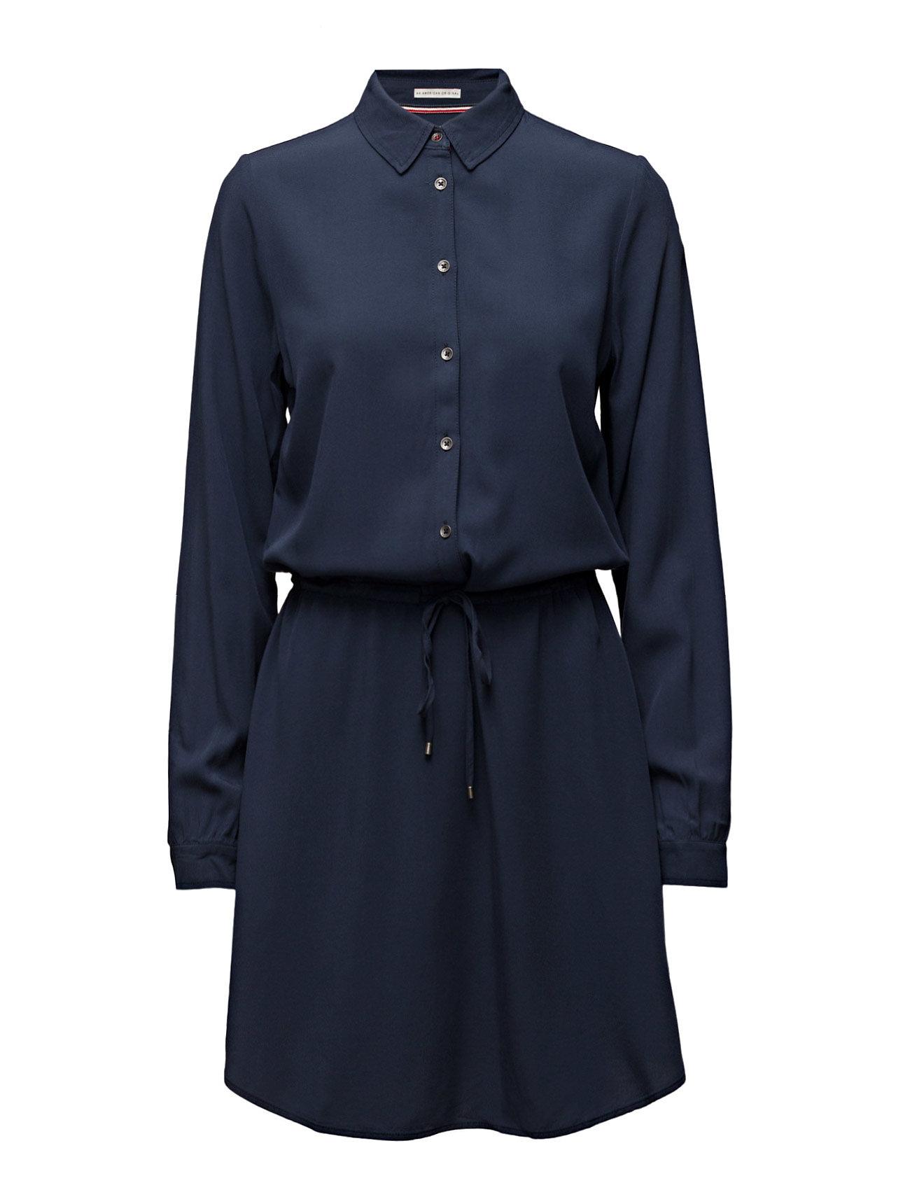 Thdw Basic Shirt Dress L/S 11 Hilfiger Denim Knælange & mellemlange til Damer i Blå