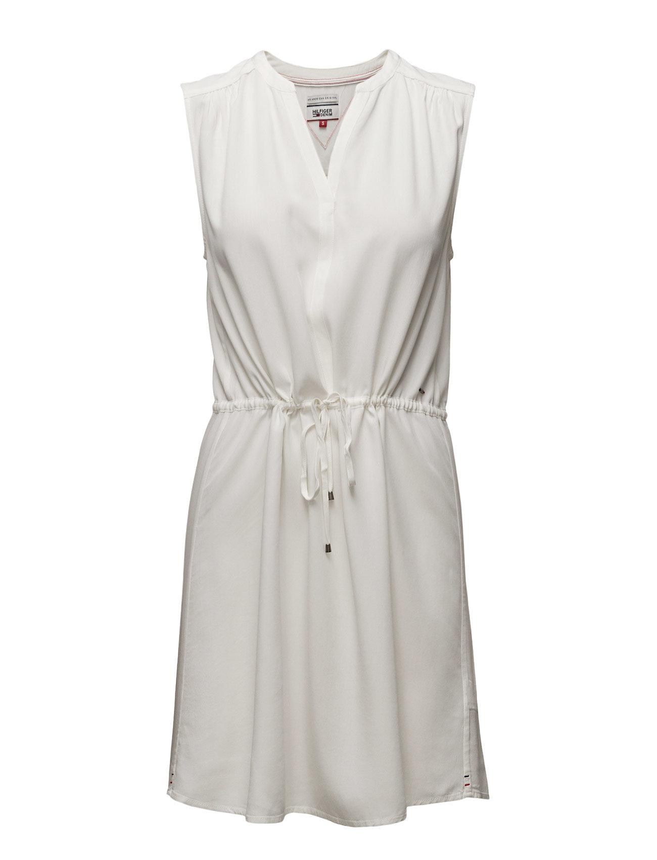 Thdw Blouse Vn Dress S/L 16 Hilfiger Denim Korte kjoler til Kvinder i hvid