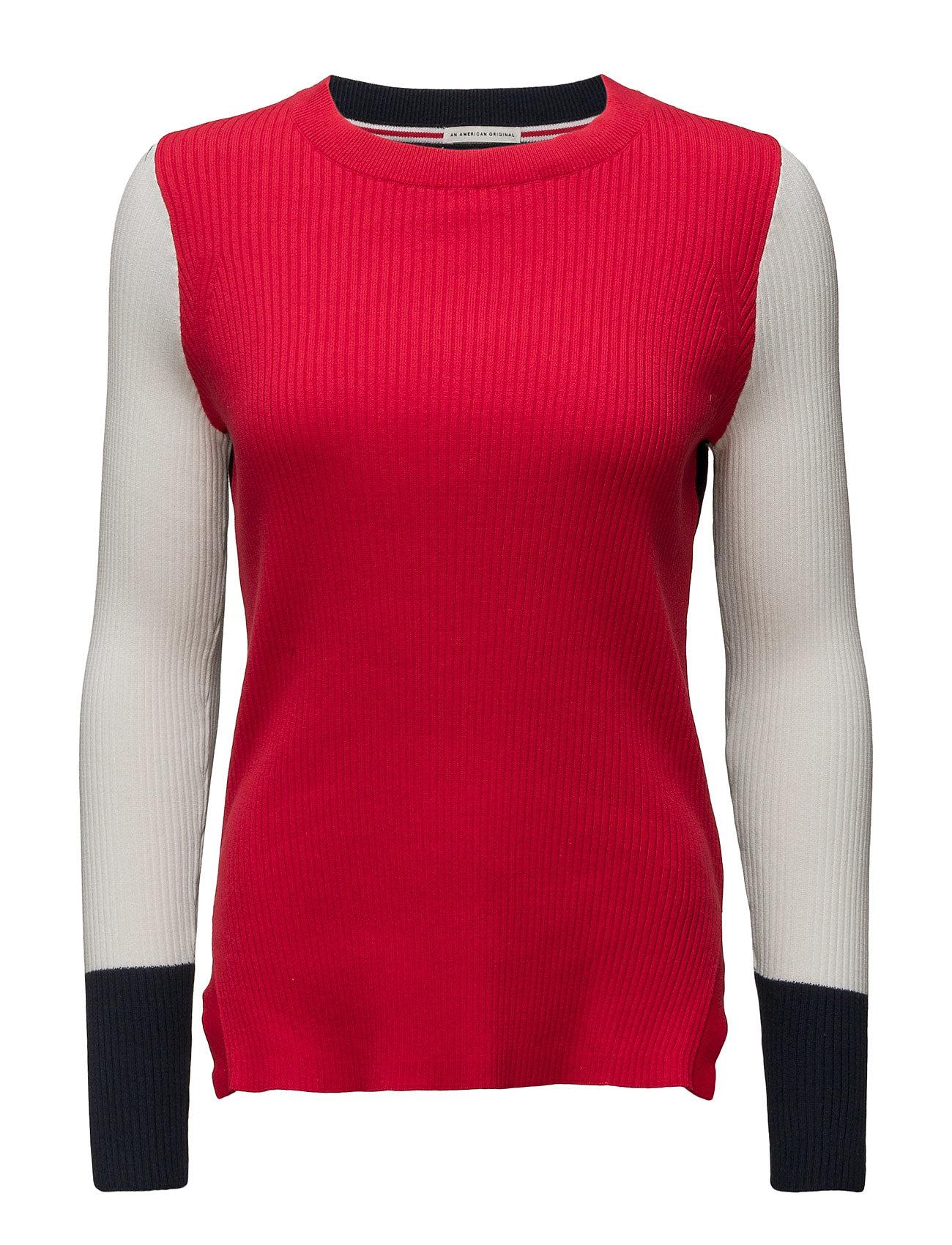 Thdw Stripe Cn Sweater L/S 28 Hilfiger Denim Sweatshirts til Damer i Rød