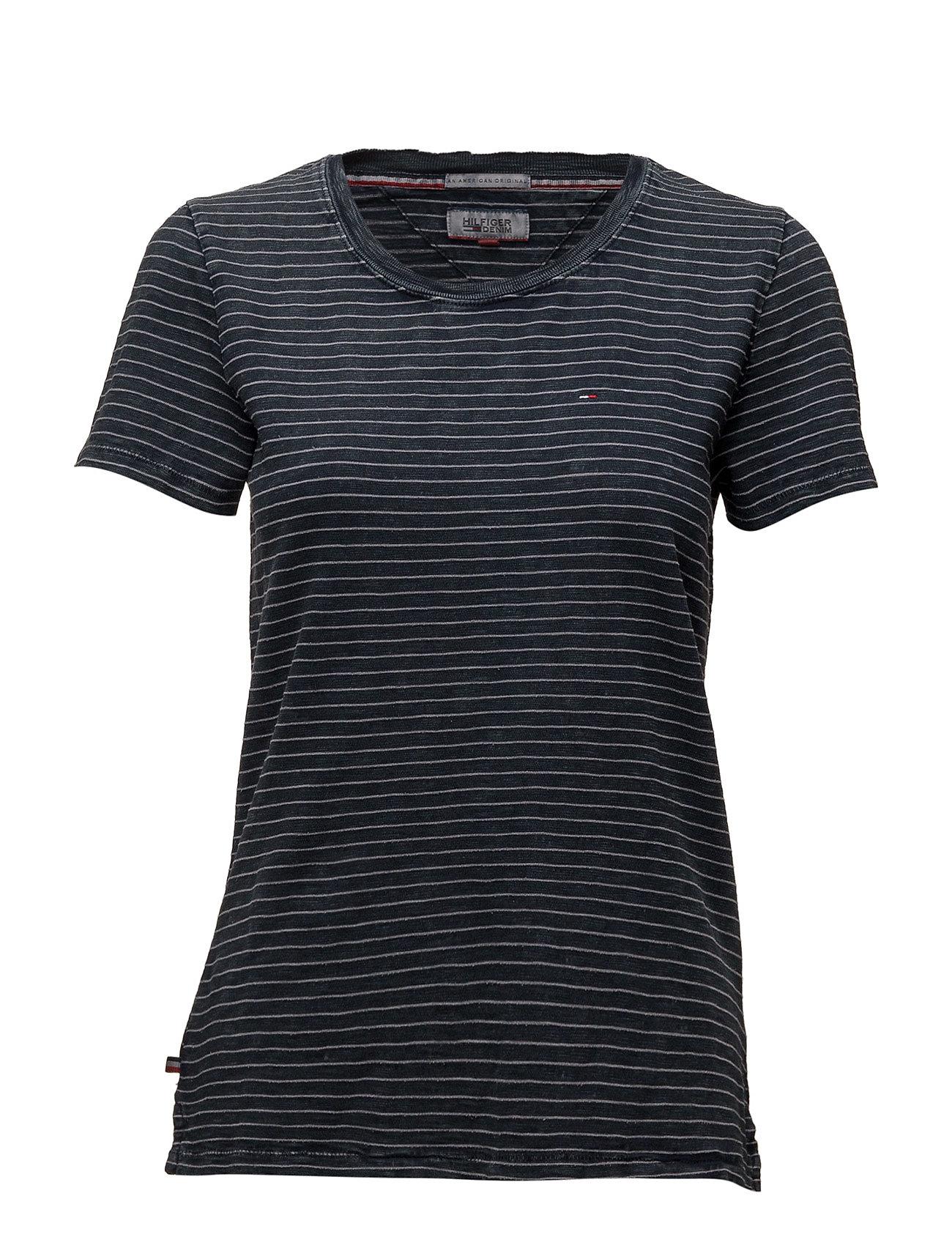 Thdw Stripe Cn Knit S/S 39 Hilfiger Denim T-shirts & toppe til Kvinder i