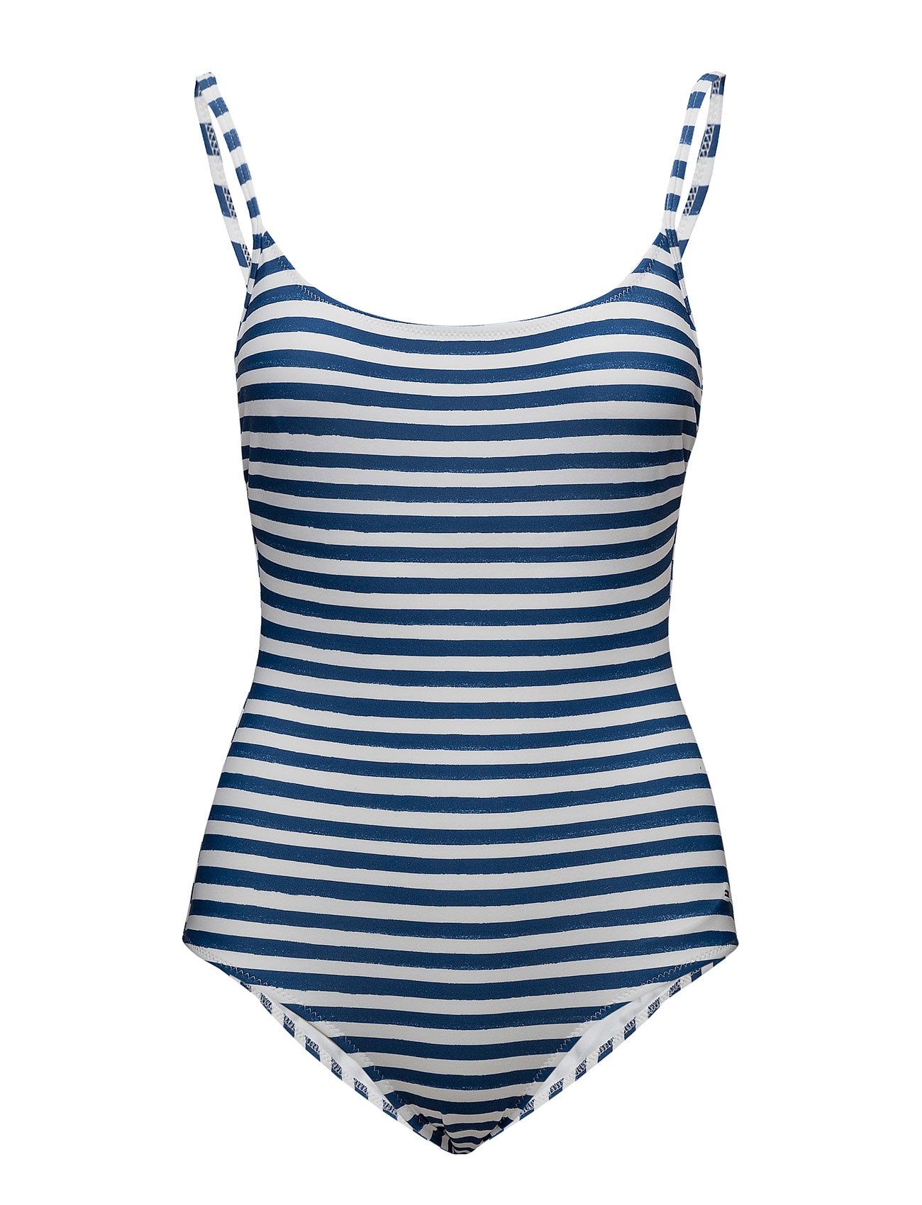 Thdw Stripe Swimsuit 11 Hilfiger Denim Badetøj til Damer i Blå