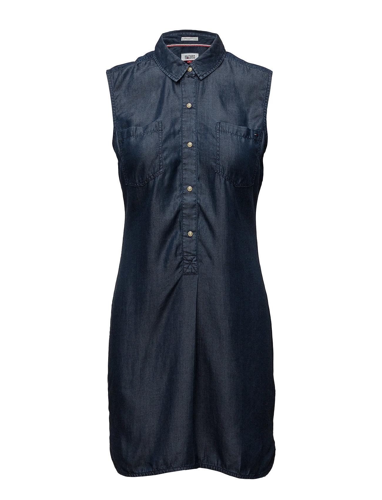 Thdw Tencel Dnm Shirt Dress S/L 23 Hilfiger Denim Korte kjoler til Damer i