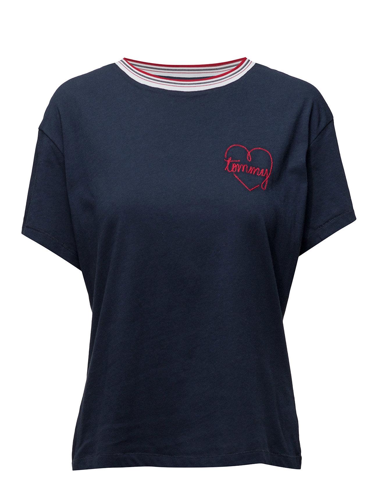 Thdw Cn T-Shirt S/S 20 Hilfiger Denim Kortærmede til Damer i Blå