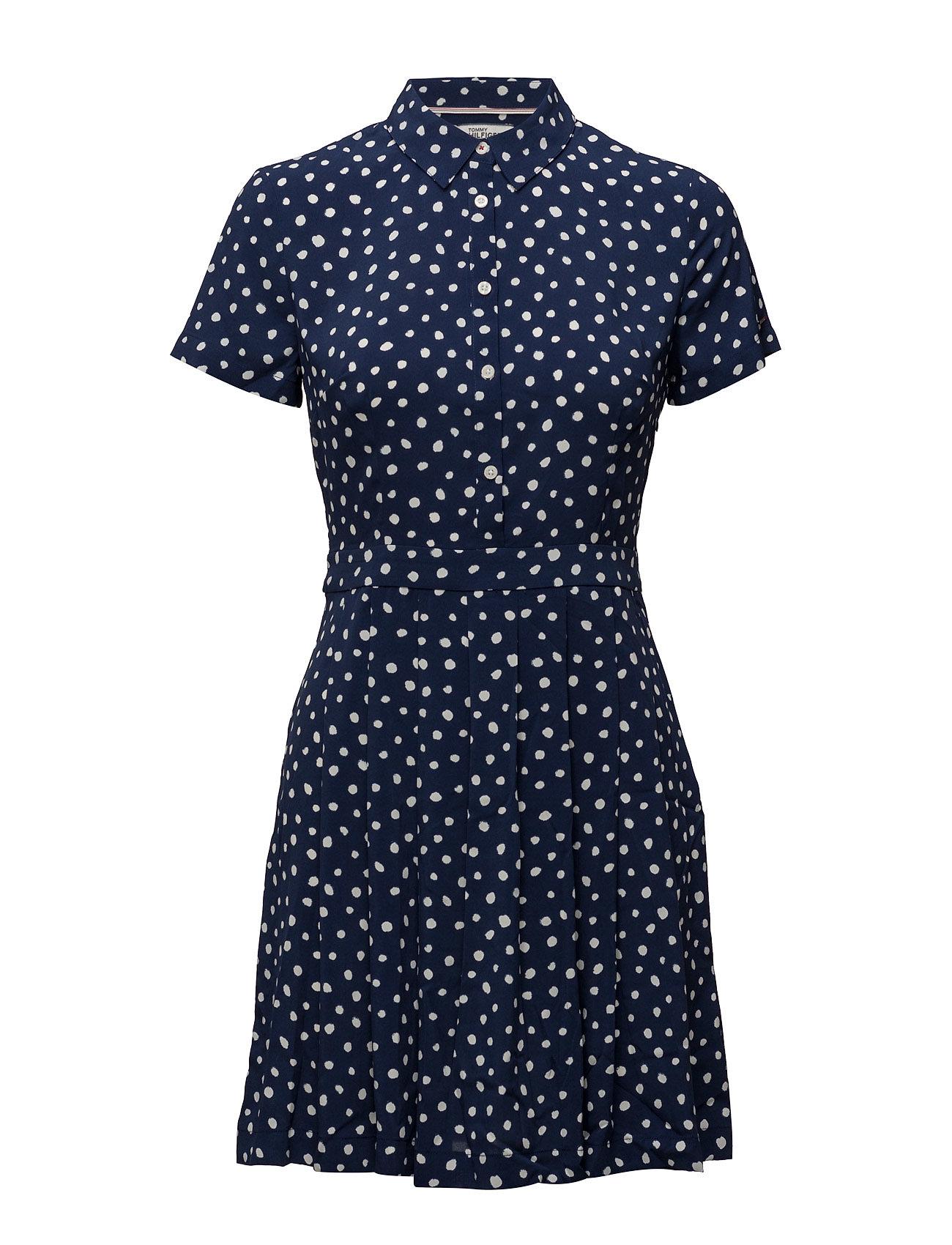 Thdw Basic Shirt Dress S/S 13 Hilfiger Denim Korte kjoler til Damer i Blå