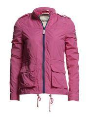 Veronique solid field jacket - SHOCKING PINK