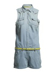 Gyniva playsuit n/s - LIGHT CHAMBRAY
