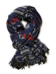 Fencily scarf - DARK GREY HEATHER/ MULTI