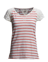 Aline sn knit s/s striped - 314