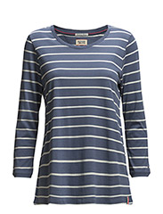 Alessa striped sn knit 3/4 - BLUE