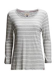 Alessa striped sn knit 3/4 - GREY