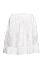 Gathered midi skirt 7 - WHITE