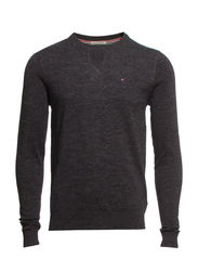 Ethan htr cn sweater l/s - TOMMY BLACK