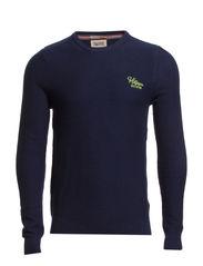 Elton cn sweater l/s - BLACK IRIS-PT