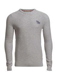 Elton cn sweater l/s - LIGHT GREY HEATHER