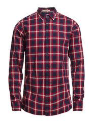 Omaha check shirt l/s - RHUBARB-PT