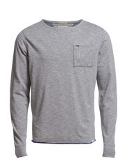 Tampa cn knit l/s - LIGHT GREY HEATHER