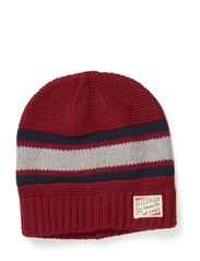 Joey striped beanie - RHUBARB-PT