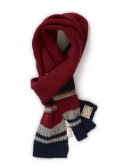 Joey striped scarf - RHUBARB-PT