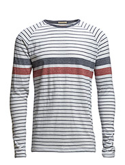 Leopold cn knit l/s - WHITE