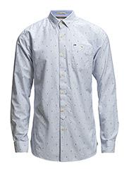 Georgetown printed shirt l/s - WHITE