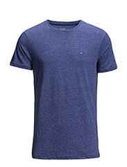Hanson cn knit s/s jaspe - BLUE