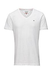 Original melange vn knit s/s - CLASSIC WHITE