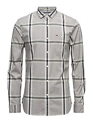THDM SL STRETCH CHECK SHIRT L/S 20 - GREY