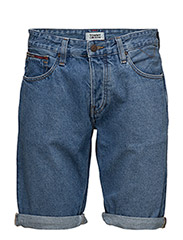 RONNIE SHORT, 911, N - TOMMY JEANS MID BLUE RIGID