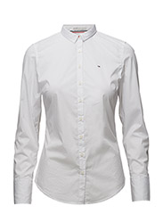 THDW BASIC STRETCH SHIRT L/S 1 - WHITE
