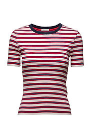 THDW STRIPE CN KNIT S/S 33 - RED