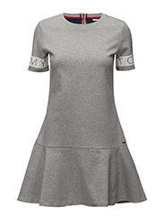 THDW PEPLUM DRESS S/S 11 - GREY