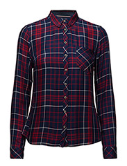 THDW BASIC CHECK SHIRT L/S 44 - RED