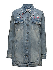 THDW LONG OVERSIZED JACKET REMIBL - DENIM