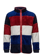 HE TEDDY FULL ZIP SWEATER - BLUE