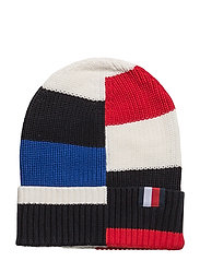 HE COLOR BLOCK BEANIE - WHITE