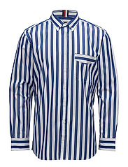 BE BOLD STRIPED SHIR - SURF THE WEB / BRIGHT WHITE