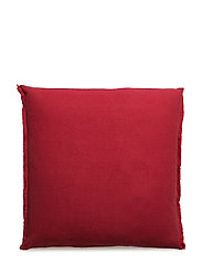 Sunshine Fringe Cushion - TRUE RED