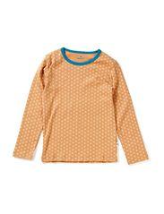 T-Shirt - Camel/Bleu/Clover