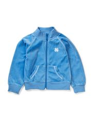 Zip Cardigan Baby - Sea / Velour